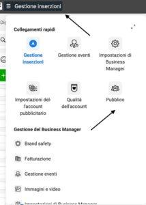 come creare su business manager un pubblico personalizzato