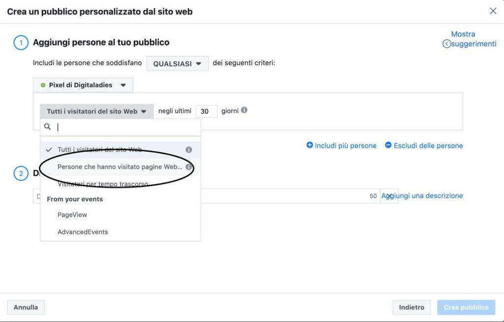 come creare traffico sul sito web con il pubblico personalizzato